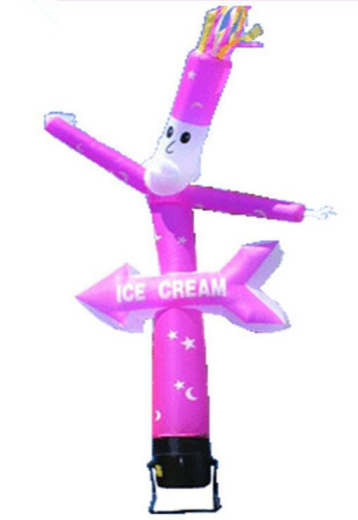 Beautiful Inflatable Tube Desktop Sky Air Dancer with Ice Cream Logo